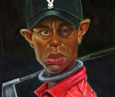 Tiger Woods – A bold boy – Caricature