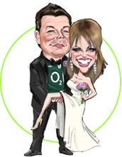 Wedding Caricatures Niall O Loughlin Caricature Artist