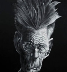 Samuel Beckett caricature
