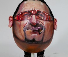 BONO egg caricature
