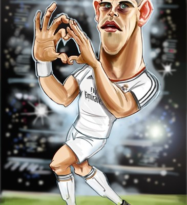 Gareth Bale caricature work in progress