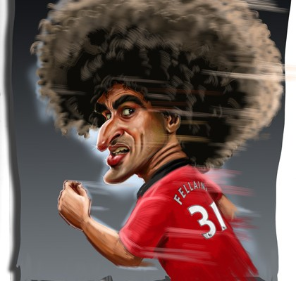 Marouane Fellaini caricature