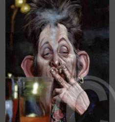 Shane MacGowan caricature