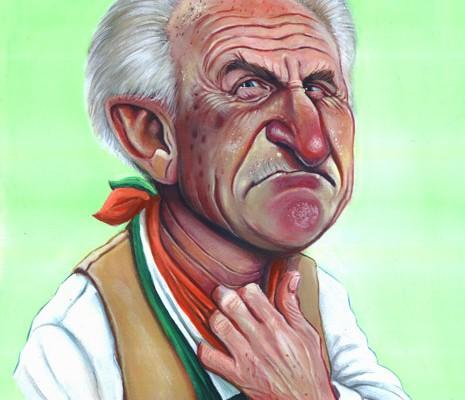 Giovanni Trapattoni caricature