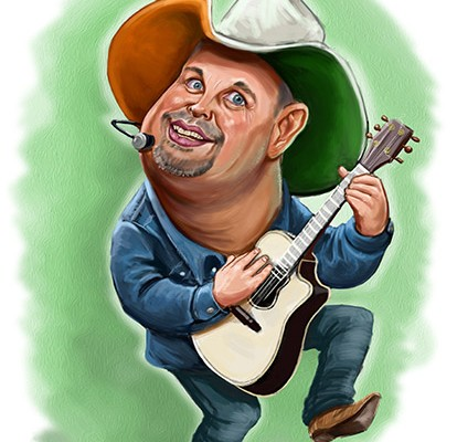 Garth Brooks caricature