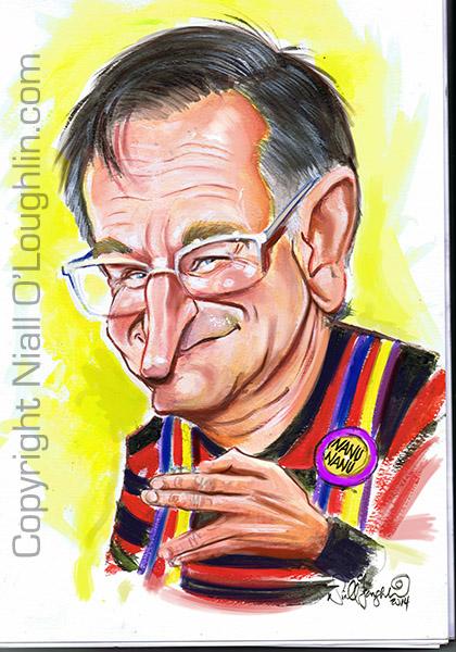 Robin Williams Caricature Niall O Loughlin Caricature