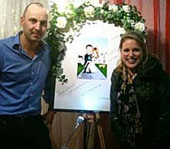 Amy Huberman With The Wedding Caricature Package For Her To Brian ODriscoll