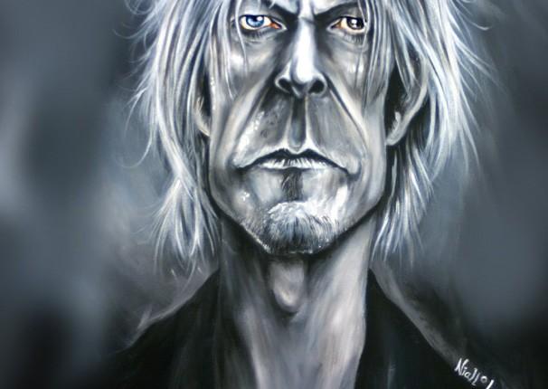 David Bowie caricature