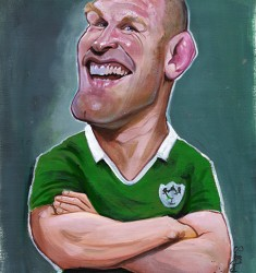 Paul O'Connell caricature