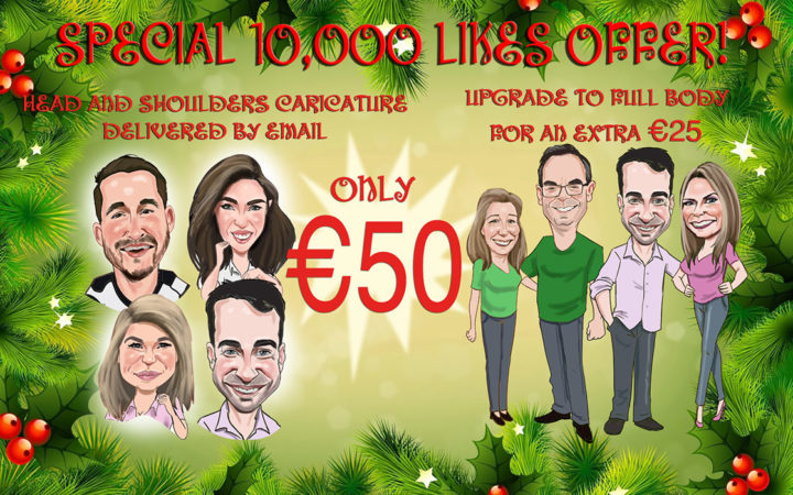 Facebook digital caricature offer