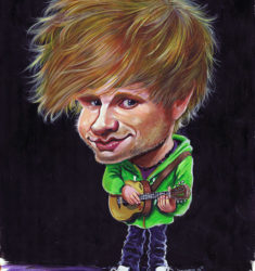 Ed Sheeran caricature