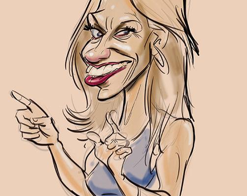 Kellyanne Conway caricature