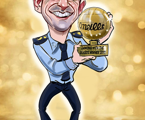 Caricature of Aidan O'Mahony Dancing With the Stars Ireland