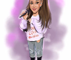 Ariana Grande caricature
