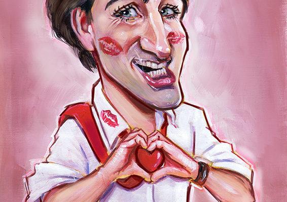 Justin Trudeau caricature