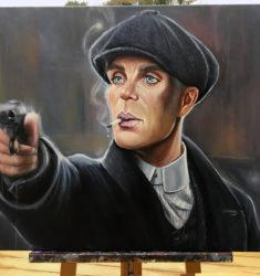 Thomas Shelby Peaky Blinders painting
