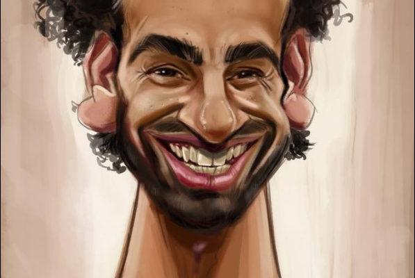 Mo Salah caricature