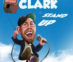 Damian Clarke Stand Up Comedian Caricature