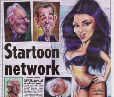 Celebrity Caricatures in THE SUN