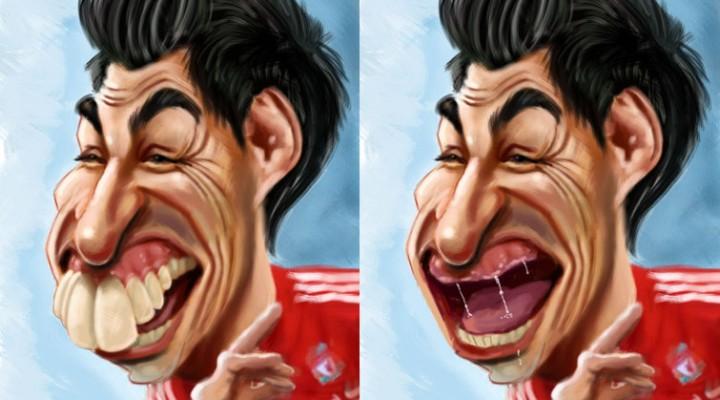 Luis Suarez get's 10 game ban – Caricature