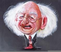 Irish President Michael Higgins Caricature