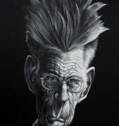 Samuel Beckett caricature