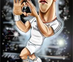 Gareth Bale caricature
