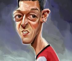 Mesut Ozil caricature