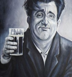 Brendan Behan caricature