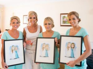 Caricatures make an ideal wedding gift for your bridesmaids.  sc 1 st  Niall Ou0027Loughlin & unusual bridesmaid gifts | Niall Ou0027Loughlin - Caricature Artist