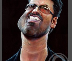George Michael caricature