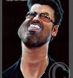 George Michael caricature