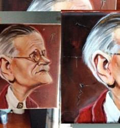 James Joyce caricature