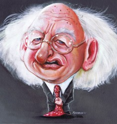 Michael D Higgins caricature