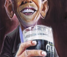 Barack Obama Guinness caricature