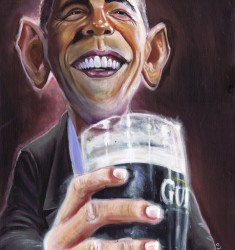 Barack Obama Guinness caricature