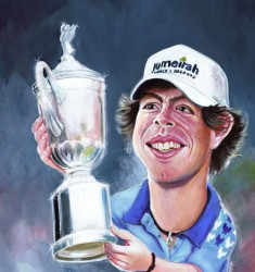 Rory McIlroy caricature