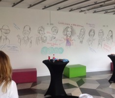Smart Wall caricatures for corporate event.