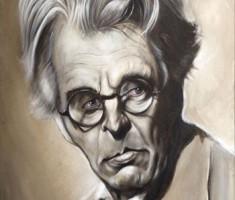 W B Yeats caricature