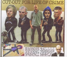 Love Hate caricatures in Irish Sun