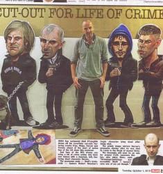 Love Hate caricatures in Irish Sun