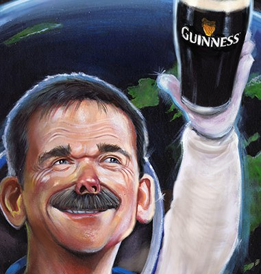 commander chris hadfield caricature