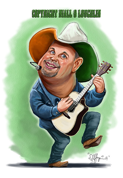 Garth Brooks caricature