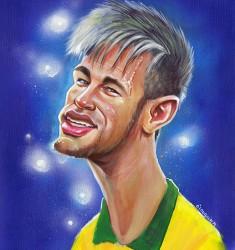 Neymar caricature