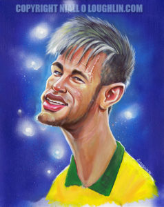 Neymar-caricature