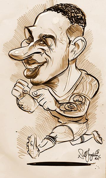 Memphis Depay caricature