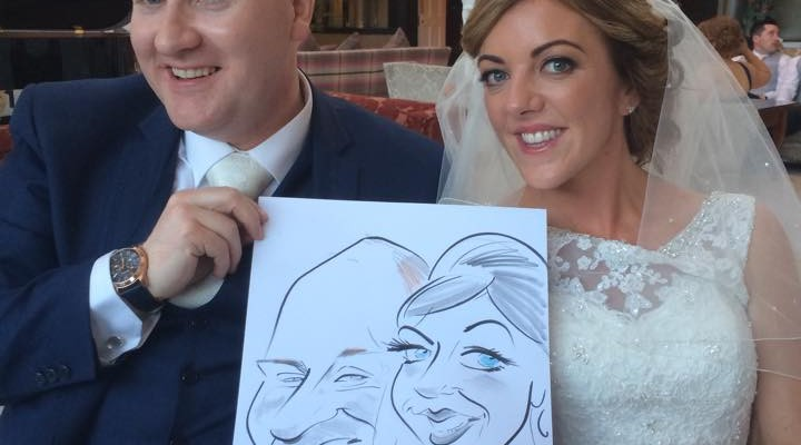 wedding caricaturist ireland
