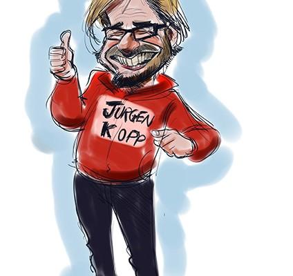 Jurgen Klopp caricature