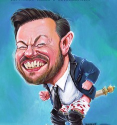Ricky Gervais caricature