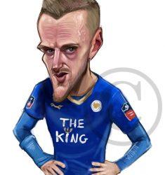 Jamie Vardy caricature